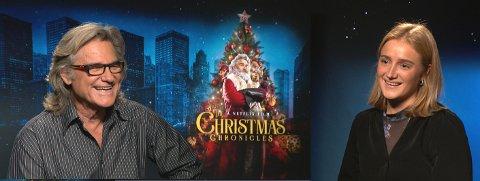 BESTEFARFØLELSE: Skuespiller Kurt Russel smeltet helt da Emilie bør på norsk melkesjokolade før intervjuet. Opptaket ble vist på TV2 24. november.