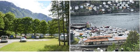 Mange har overnatta ved Trolltunga Camping (t.v.) og Camp Lothepus i sommar. (Arkivfoto)
