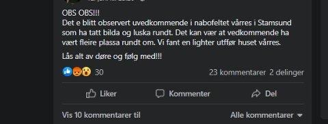 Dette var meldingen på Ka skjer i Stamsund på lørdag.