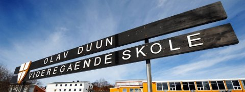 ELEV SMITTET: En elev ved Olav Duun videregående skole er koronasmittet.