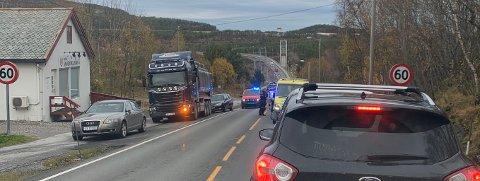 Ulykken skjedde i Rensvikbakken. Leserfoto