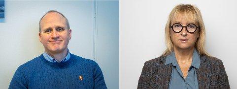 PÅ PLASS: Christ Tandy og Torill Skår har nå startet i sine nye stillinger hos Harstad kommune.
