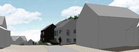 RANVIK: Prosjektet i Ranvikveien 63 ble til slutt seende slik ut. (Illustrasjon: Spir Arkitekter)