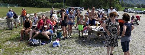 Vellykket: Fjorårets arrangement samlet mange ved Leikvoll. Foto: Inge Nordvik