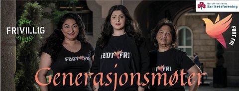 Generasjonsmøter. F.v: Shabana Rehman Gaarder, Rania Al-Nahi og Azra Gilani.