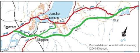RIVEHJELP: Veivesenet trenger rivehjelp i veitrase for ny E16 mellom Eggemoen og Olum.