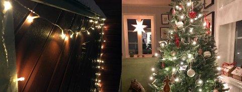 KOSELIG: Det er trivelig med julepynt og julelys.