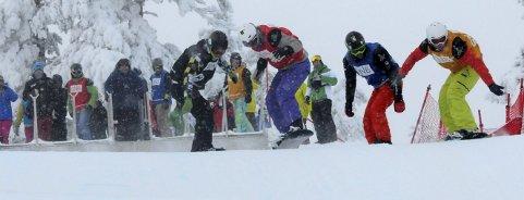 OL-ARENA: Det har blitt arrangert flere europacuprenn i snøbrettcross i Funkelia. Nå kan det bli kamp om OL-medaljer både i snøbrett og fristil der i 2026.FOTO: HOSTVEDT