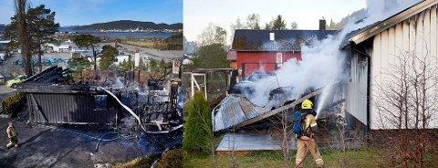 TOTALSKADD: I løpet av to uker har det vært to husbranner i Namsos; først på Lauvhammeren og deretter i Fossbrenna. Men politiet ser ingen sammenheng mellom brannene.