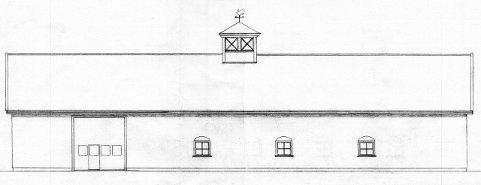 FASADE: Her er fasadetegningen av bygningen som Kasper Hanneborg ønsker å oppføre på Haugrim ved Bjørkelangen.