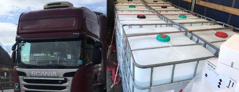 FOR MYE: Sjåføren til venstre hadde for mye «rot og skrot» i frontruta, mens sjåføren hadde for mye brannfarlig gods i lasten. Foto: Statens vegvesen