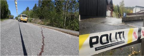 SKJØT PÅ SEKS OPPDRAG: De to siste årene er det bare politiet i Telemark i Sør-Øst politidistrikt som har skutt mot personer på oppdrag. På Bolkesjø i september (bilde t.h.) ble Tor Henning Dalen (39) skutt og drept av politiet. I Drangedal den 15. mai i fjor (t.v.) ble en da 29 år gammel mann skutt i leggen av politiet.