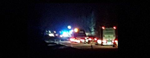 DØDSULYKKE: En personbil og et vogntog kolliderte på riksveg 3 i Stor-Elvdal.