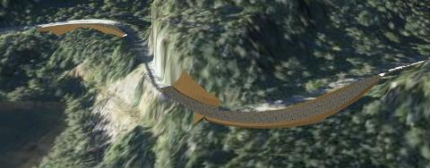 SKOLLASVINGEN: Skollasvingen på fylkesvei 44 mellom Svege industriområde og avkjøringen mot Hidra må utbedres for å få frem turbinene. Det er foreslått en utbedring med utvidelse av eksisterende vei.