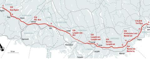 NYE VEIER OVERTAR: Nye veier har laget en tegning ut fra den nye kommunedelplanen. Detaljene videre er det nå Nye Veier som skal utrede.