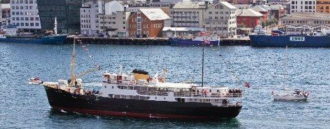 """Mannen tok sen ombord på """"Gamle Salten"""" og utløste en redningsflåte til 260.0000 kroner. Den ble ubrukelig etterpå."""