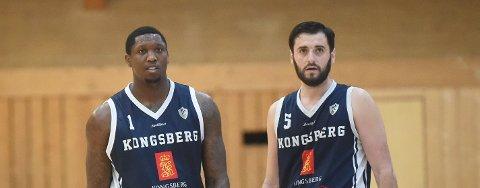 RESTEN AV LIGASPILLET KAN RYKE: Må Miners-spillerne Fred thomas (t.v.) og Ognjen Nisavic se langt etter resten av sluttspillet i basketligaen? FOTO: OLE JOHN HOSTVEDT