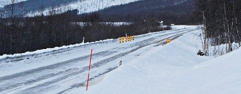 HØY FART: Over en strekning på 1300 meter her på E8 i Balsfjord holdt 25-åringen fra Tromsø en snitthastighet på 236 kilometer i timen.