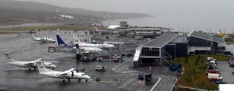 STOR VEKST: Tromsø lufthavn Langnes hadde stor trafikkvekst i 2017. 182.000 flere passasjerer reiste via lufthavna enn året før.