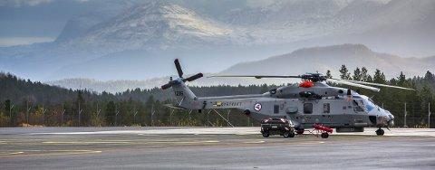SKANDALE-HELIKOPTERET: NH90-helikopter på Bardufoss flystasjon. Foto: Yngve Olsen