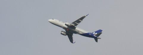 I TROMSØ: SAS sin nye arbeidshest, Airbus A320neo, har vært daglig i Tromsø de siste dagene. Foto: Are Medby