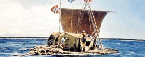 KON- TIKI: Thor Heyerdahl (1914-2002) ble verdenskjent da han den 28. april 1947 seilte fra Peru over Stillehavet til Polynesia med balsaflåten Kon-Tiki.