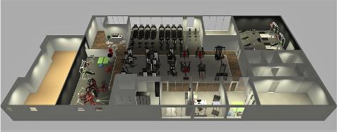 NYTT: Jevnaker treningssenter skal holde til i Storgata 20. Dette er en foreløpig tegning av hvordan det kan bli.