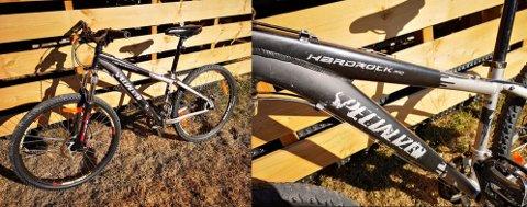 STJÅLET: Dette er den ene sykkelen som er stjålet rett utenfor huset til familien på Løken.