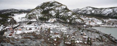 STORE ØDELEGGELSER: Utrolig nok gikk ingen menneskeliv tapt i Kattmarkaraset i Namsos i 2009. Undersøkelser viser at mange trøndere også i dag bor i områder med mye kvikkleire.
