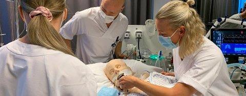 KORONA: Her trenes intensivsykepleiere, for å få flere til å håndtere intensivbehandling i en pandemi.