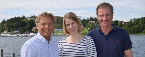 Kjell Åsmund Salvesen, Marit Bratlie og Øyvind Hope håper på mange gode søknader etter sommeren.