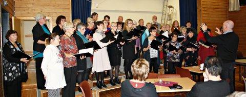 Flott sang: Halsakoret synger, med dirigent Bjørn Leifsson.
