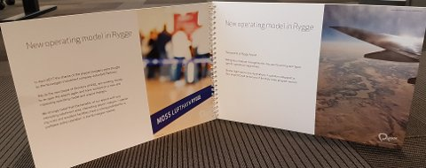 LOKKEMAT: Denne brosjyren er sendt ut i rundt 100 eksemplarer til blant andre politikere og utenlandske flyselskaper.