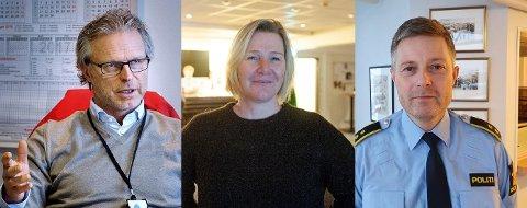 GJESTER: Åge Skinstad (f.v.), Randi Hermanrud og Fredrik Lykken er denne ukas gjester i OA-podden.