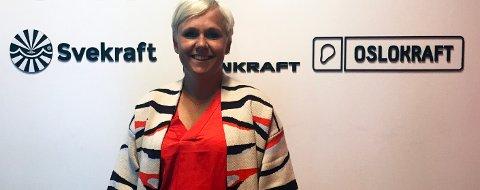 GODT FORNØYD: Sigrun Eggen er godt fornøyd med at Aker valgte Vestfold-selskapet Oslo Kraft.