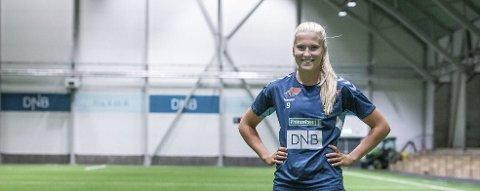 LSK-stjernen Emilie Nautnes var med i forrige mesterskapstropp for Norge. Neste mesterskap hun er aktuell for er nå utsatt i ett år. Foto: Remi Presttun