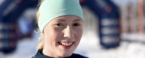 I HOLMENKOLLEN: Rødbergjenta Marie L. Hamgaard skal gå førsteetappen for Buskeruds andrelag i ungdomsstafetten søndag.