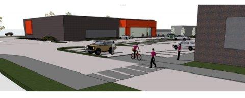 NYE BYGG: Slik ser utbyggeren for seg at de nye bygga på Tuven kan bli. Nå er det bekreftet at storkjeden Jysk skal inn i det ene på 1600 kvadratmeter. Utbygger understreker at  foreløpige skisser, som må tilpasses leietakernes formål. Illustrasjoner: Sør Arkitekter