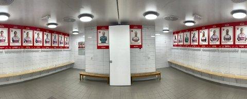 Fredag var bildene av Sandviken-spillerne som ble tatt ned tilbake i rett garderobe.