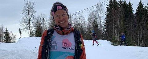 FULLFØRTE I FIN STIL: Gro Siljan Hjukse kan smile etter å ha gått Birjen fire ganger i løpet av 20 og en halv time. ALLE FOTO: PRIVAT