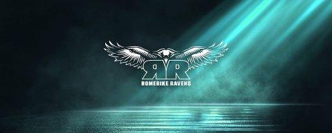 Nye logo: Denne skal være ved hjertet til spillerne i Romerike Topphåndballklubb, som blir hetende Romerike Ravens når eliteserien kastes igang igjen i høst.