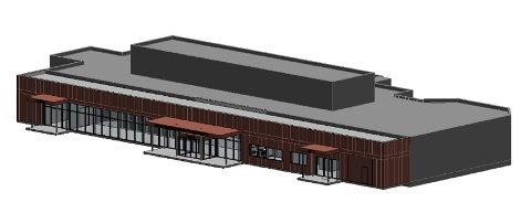 Fasaden på den nye heliporten.