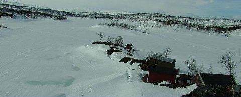 Stenger løypene: Bildet er hentet fra webkameraet til SKS ved Kjelvatnet i Sulitjelma. Det er en av løypene som nå er stengt.