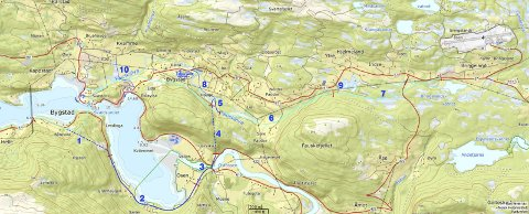 To forslag: Lyseblå strek er kommunen sitt forslag med bru over Svesundet (A1+B1+C4), 640+70 = 710 millionar kroner. Mørkeblå strek er alternativt forslag med tunnel i Osen, tilnærma 700 millionar kroner, skriv Sveinung Furnes.