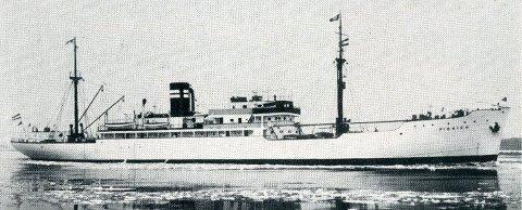 Den gang. Slik så MS Pionier ut før det ble torpedert og sank utenfor Skagen.
