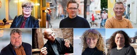 Dette er noen av våre potensielle stortingspolitikere på Buskerudbenken. Men hva tenker de om utviklingen av fjellet og hyttebyggingen i Buskerud? Her får du noen av svarene. (Ø.F.V.) Kristin Ørmen Johnsen (H), Even Amandus Røed (Ap), Kjell Erland Grønbeck (Krf), (N.F.V.) Morten Wold (Frp), Per Olaf Lundteigen (Sp), Margit Fausko (Mdg) og Kathy Lie (Sv).