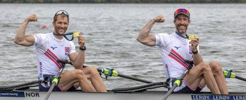 Kristoffer Brun og Are Strandli kan legge gull i verdenscupen til medaljesamlingen sin.