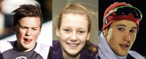 Hedres: Magnus Tuv Myhre, Natalie Midtsveen og Magnus Bakken Haugli.