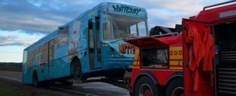 HAVARERTE: Fredag forrige uke fikk russebussen fra Nøtterøy motorhavari og kan ikke brukes resten av russetiden.