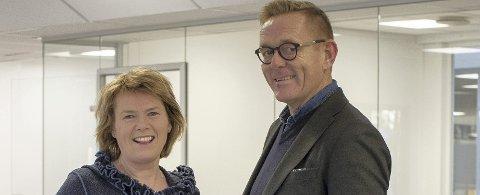 Inviterer: Næringssjef Tor Rullestad og næringsrådgiver Heidi T. Karlsen inviterer gründere, vekstbedrifter og flere til å bli del av kontormiljøet.